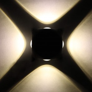 Glitz Outdoor Led Wall Washer Ball 4 Ways 12 watts,Warm White