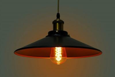 Industrial Loft Antique Black Large Pendant Light
