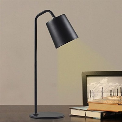 Simple Wooden Table Lamp Black