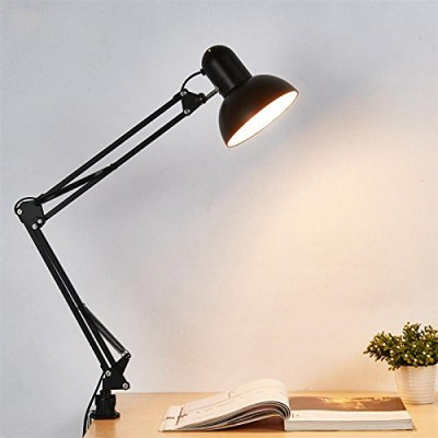 Edison Swing Style Clamp Lamp+Wall (Black)