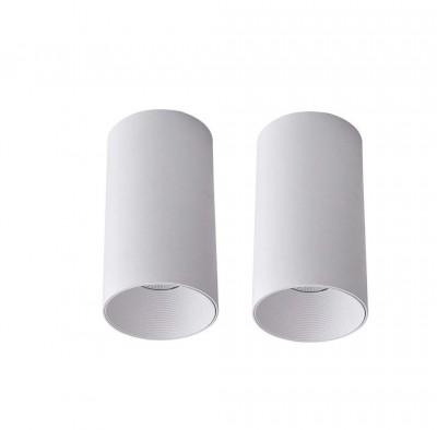 Glitz Led Ceiling Light,12 watts,Wh Body(Warm White,Pack of 2)