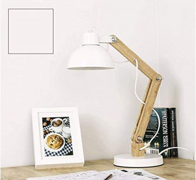Swing Wooden Table Lamp White