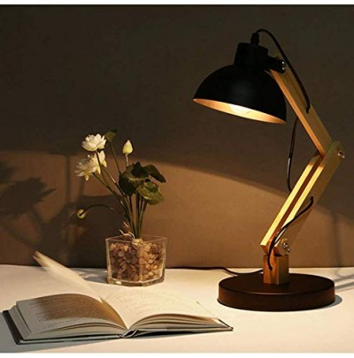Swing Wooden Table Lamp Black