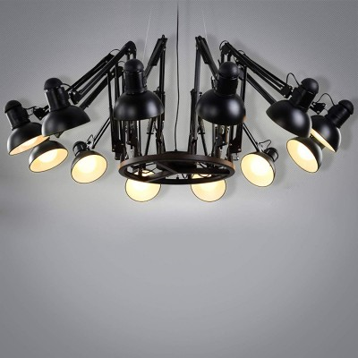 Edison Swing Lamp Chandilier 12L Pendant Light