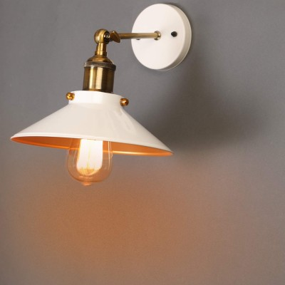 Industrial Loft White French Antique Adjustable Wall Light